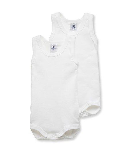 Lot de 2 bodies bébé sans manches unis PB  10.90€