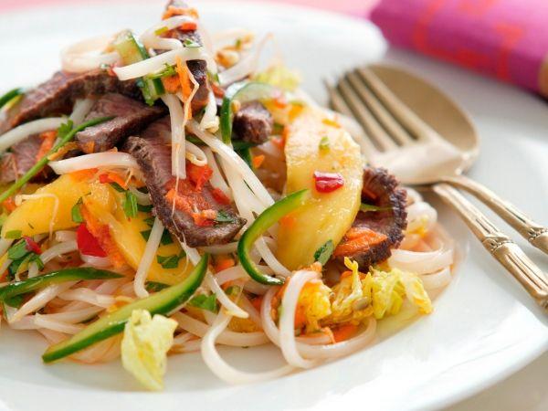 Salat courgette paprika
