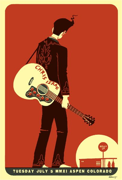 Chris Isaak, poster by Scrojo