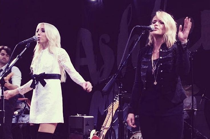 Fans in attendance for Ashley Monroe's concert in Nashville over the weekend got a very special surprise - an appearance by Miranda Lambert.
