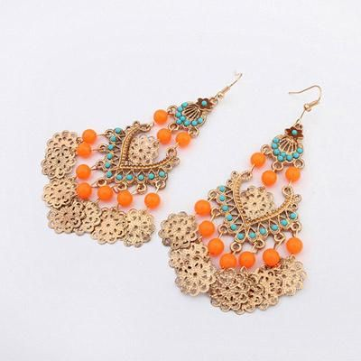 podotukushop_0A5BA6 Anting Korea beads decorated hollow out design