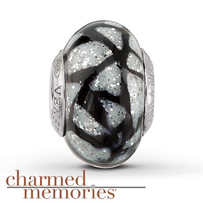 Charmed Memories Champagne Cubic Zirconia Sterling Silver Charm hzJw4s