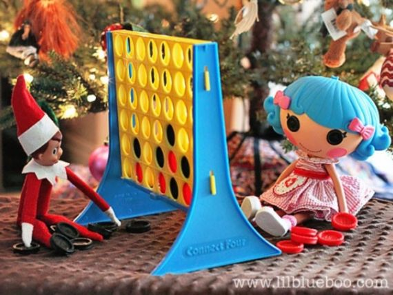 I thought of Avi would think it would be funny seeing Elf and LaLa Loopsy playing candy land  23 cute and funny Elf on The Shelf ideas