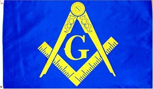 Masonic (Gold) Flag - 3 foot by 5 foot Polyester (NEW) by Other Flags. $5.21. 3 foot by 5 foot lightweight Polyester Flag w/sharp colors.  Has 2 metal Gromments for easy mounting & a Canvas Hem for long lasting strength. Express Shipping for Domesic (USA) is OVERNITE 98% of the time, otherwise 2-day; for International it is shipped Global Express Mail 2-4 Days.  We are fast shippers, all orders are shipped within 1 business day, most of the time the same day if payment is cle...