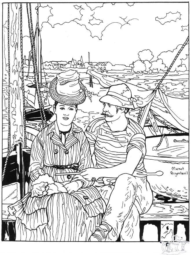 Painter Manet Printables Coloring Pages Pinterest