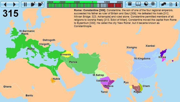 Primeros 4000 años de la historia de la humanidad en mapa interactivo