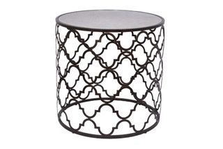 Quadrefoil Side table in Dark Bronze by Tantra Mirrors