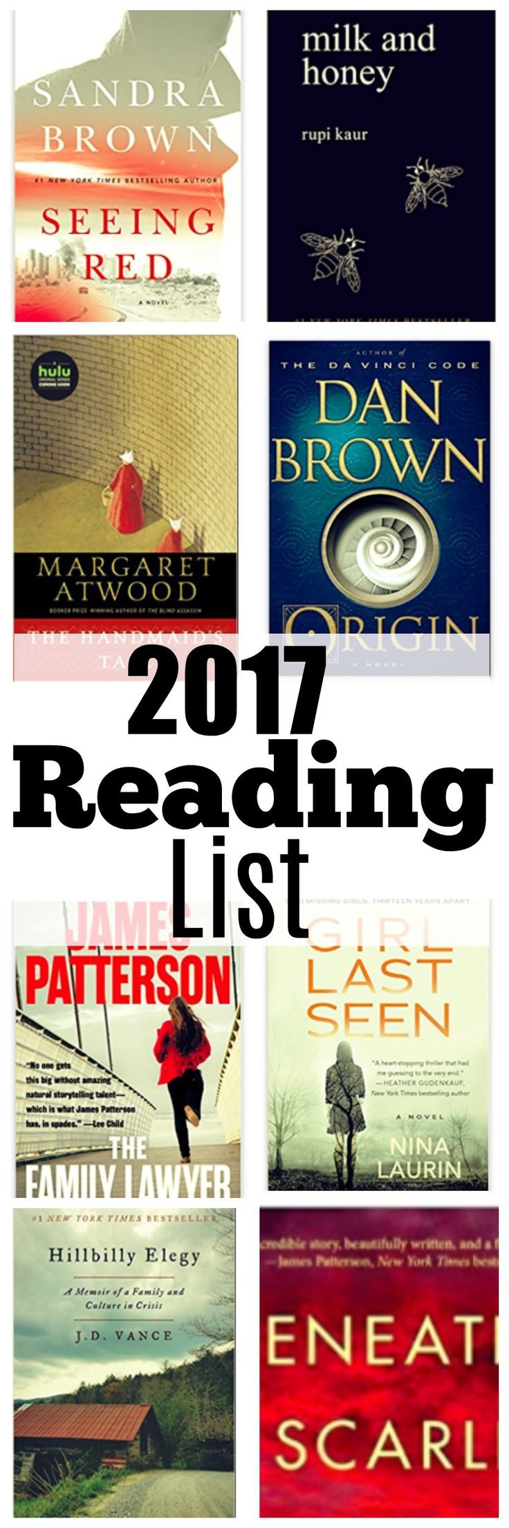 Atlanta mom blogger shares her 2017 reading list with some of the top fiction books she has read so far. Have you read any of them?!