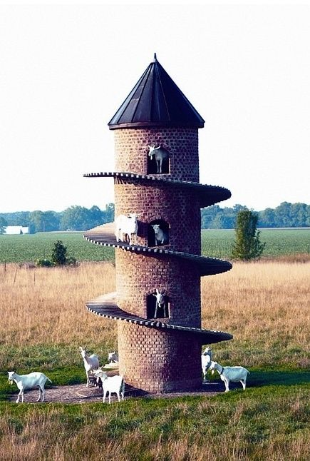 Torre de cabra cerca de Shelbyville, Illinois, Estados Unidos