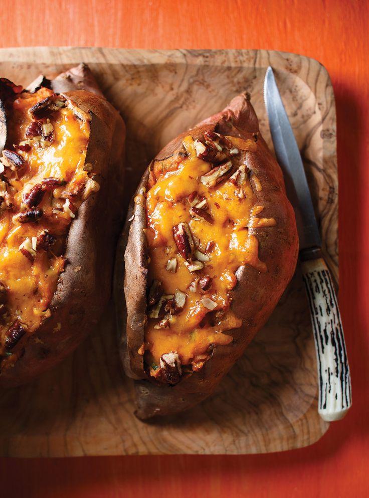 Recette de Ricardo de patates douces farcies au cheddar