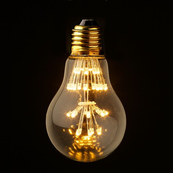 3 Watt Vintage LED Clear Round bulb