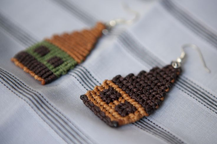 Macrame earrings, made by THEIA Lab's student, Mirto Dimakou.