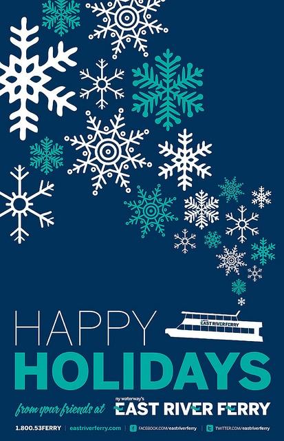 snowflake holiday poster