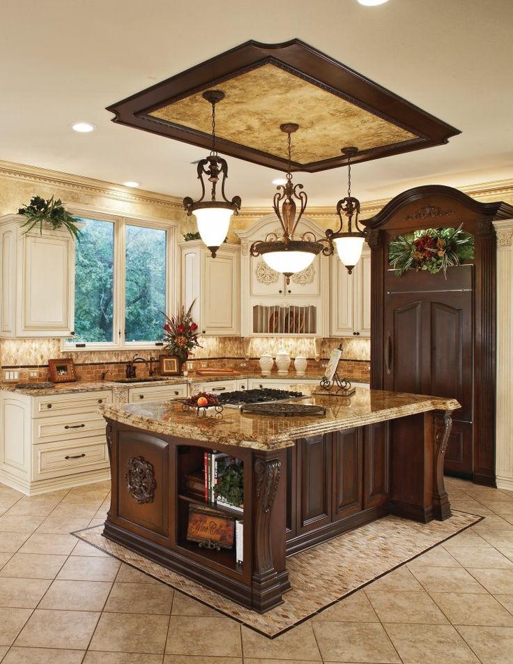 46 best images about traditional kitchens on pinterest for Kitchens with islands in the middle