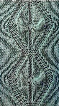 Model tricotare romb torsada