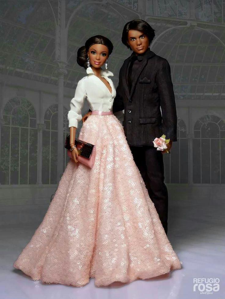 Fashion Dolls...Ebony Couple...