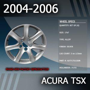 2004-2006 Acura TSX Factory 17″ Rims Wheels Set of 4