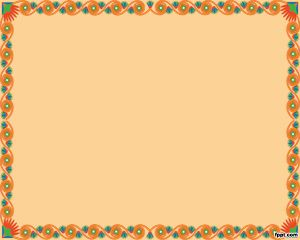 Free Orange Frame PPT background theme for presentations with a nice frame