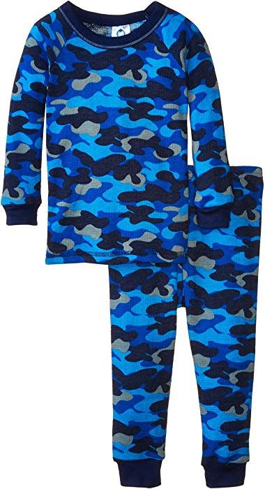 a962bdc3cd64 Amazon.com  Gerber Baby Boys  Blue Camo Embroidered 2 Piece Thermal ...
