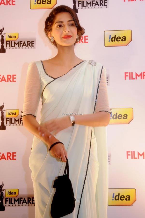 Sonam Kapoor's saree style. so very different