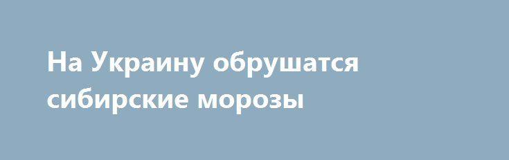 На Украину обрушатся сибирские морозы http://rusdozor.ru/2017/01/05/na-ukrainu-obrushatsya-sibirskie-morozy/  Украинский Гидрометцентр предупреждает о резком похолодании (до минус 26-ти) и снегопадах по всей территории Украины. Как говорится в сообщении Гидрометцентра , начиная с 4 января уже прошли сильные снегопады в Закарпатье и в Карпатах, где резко возросла опасность лавин. Такая ...
