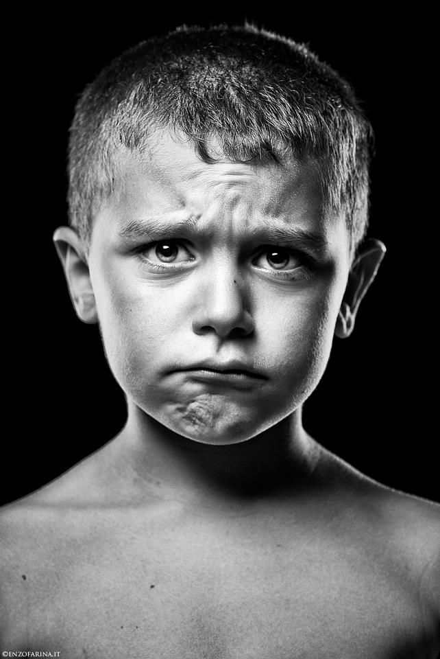 Enzo Farina, boy, kid, child, expression, powerful face ...