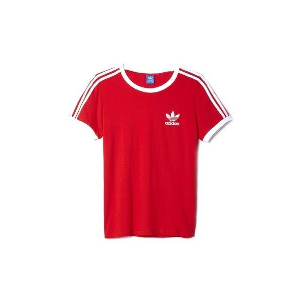 adidas AY4620 T-shirt Women T shirt ($28) ❤ liked on Polyvore featuring tops, t-shirts, red, t shirt, women, adidas t shirt, adidas, red tee, red top and adidas tee