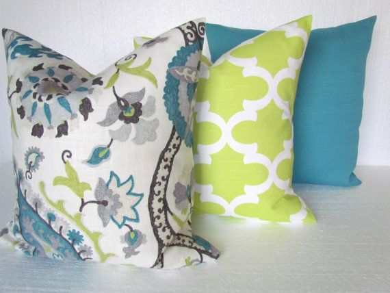 teal pillows decorative throw pillows teal blue pillow covers gray lime green throw pillow covers 16 18 20x20 all sizes linen grey floral