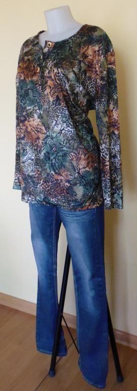 Bluzka damska duży rozmiar 48