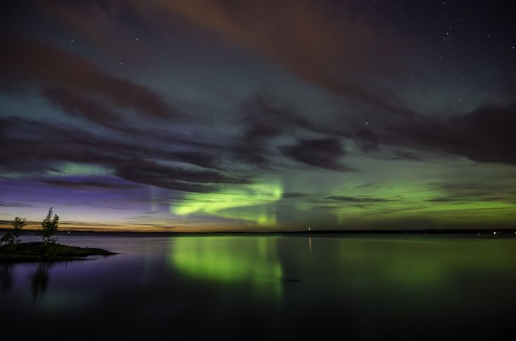 Aurora Borealis. Lake Näsijärvi, Tampere. Picture by Atacan Ergin. www.tampereallbright.fi