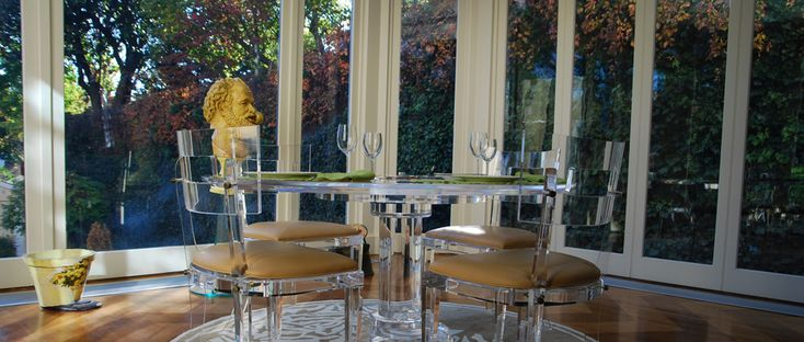 Lucite chairs by Spectrum Collection