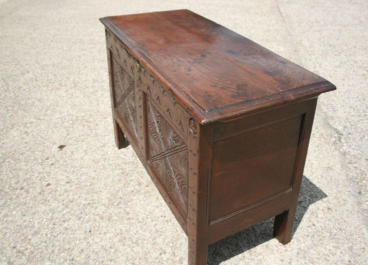 Antique Oak Coffer - Chests and Coffers