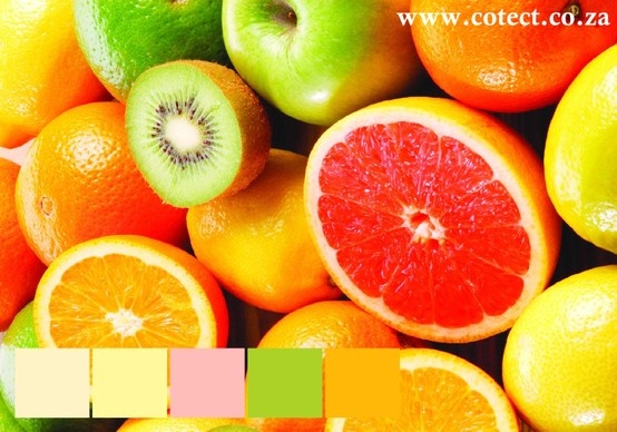 This week's colour inspiration is fruit! Beautiful fresh colours to liven up any room. #Colour Palette