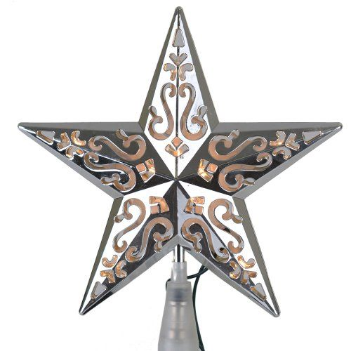 Silver Star Christmas Tree Topper