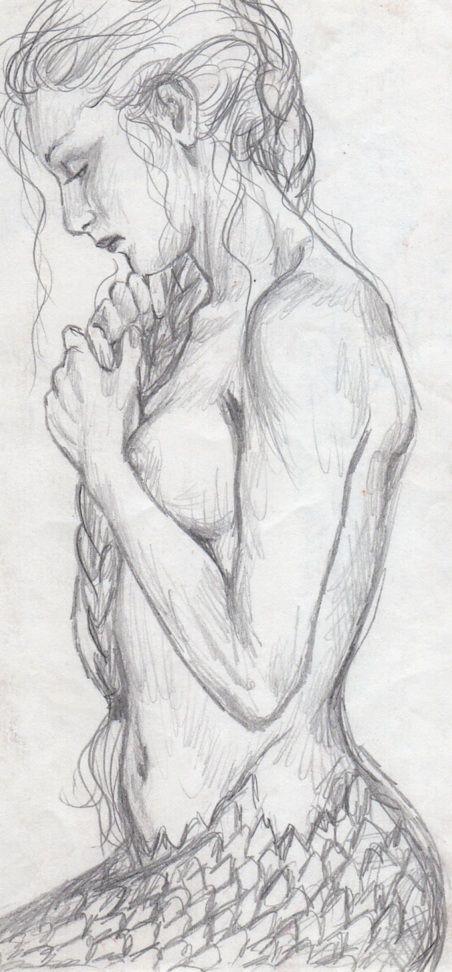 Mermaid Drawing by MermadeArt