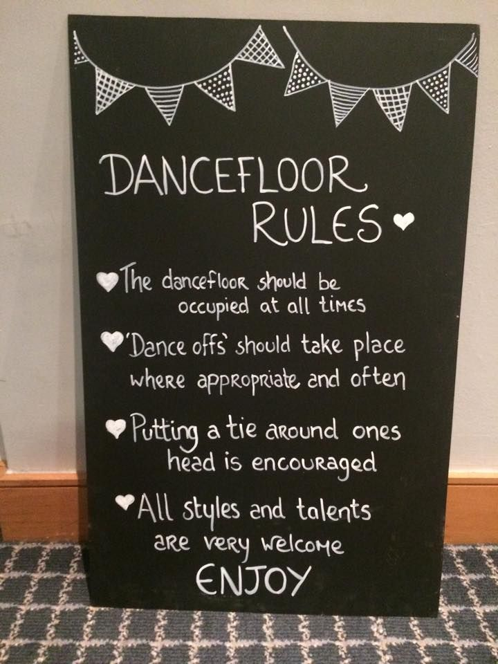 Wedding Dancefloor Rules