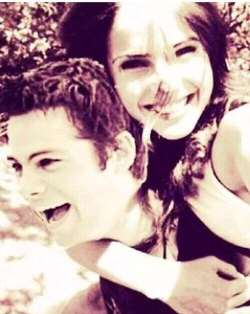 Dylan O'brien and Shelley Hennig hahaha so cute!!!