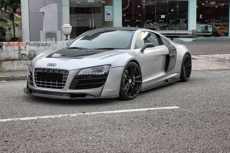 Audi r8 with lms gt3 style body kit modified cars pinterest