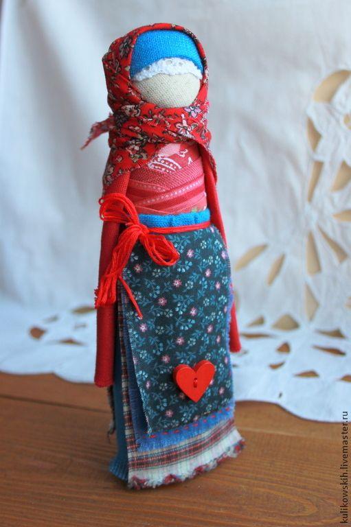 """Купить Куколка - оберег на удачное замужество """"Красна девица"""" - синий, васильковый, красный, невеста"""