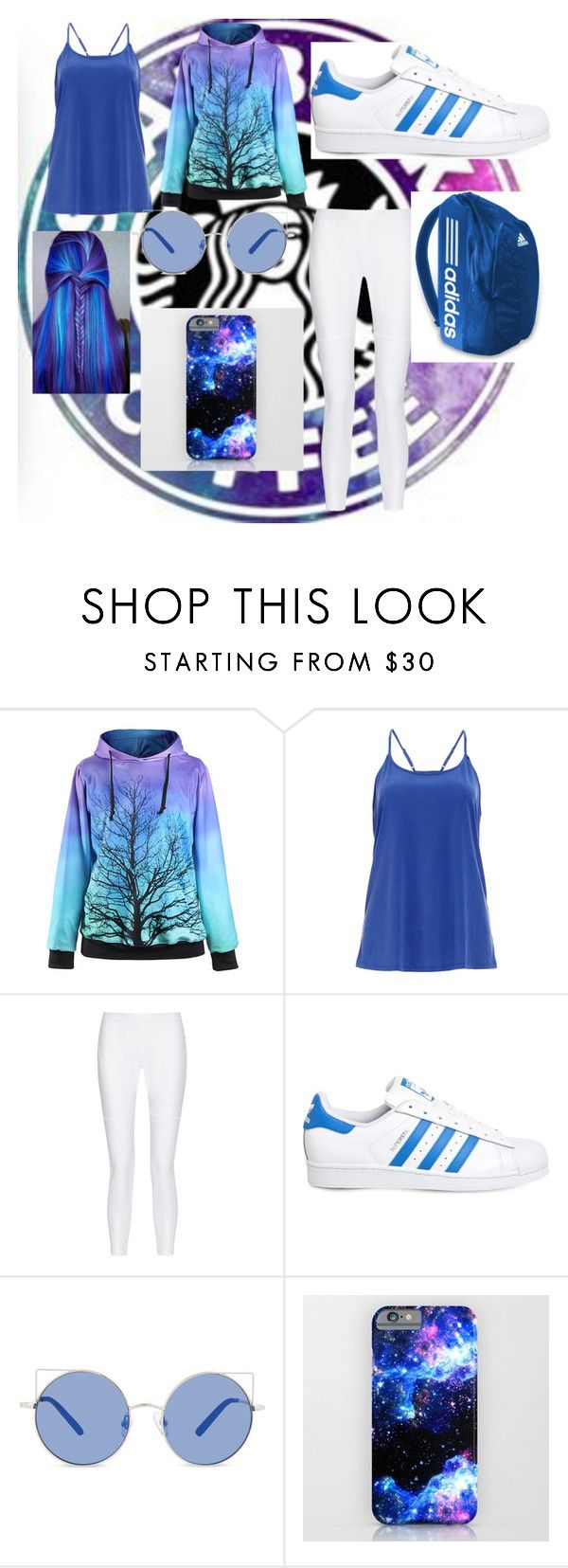 """GLOWIN WITH STARBUCKS"" by puertorico-386 ❤ liked on Polyvore featuring DailyLook, 10 Crosby Derek Lam, adidas and Matthew Williamson"