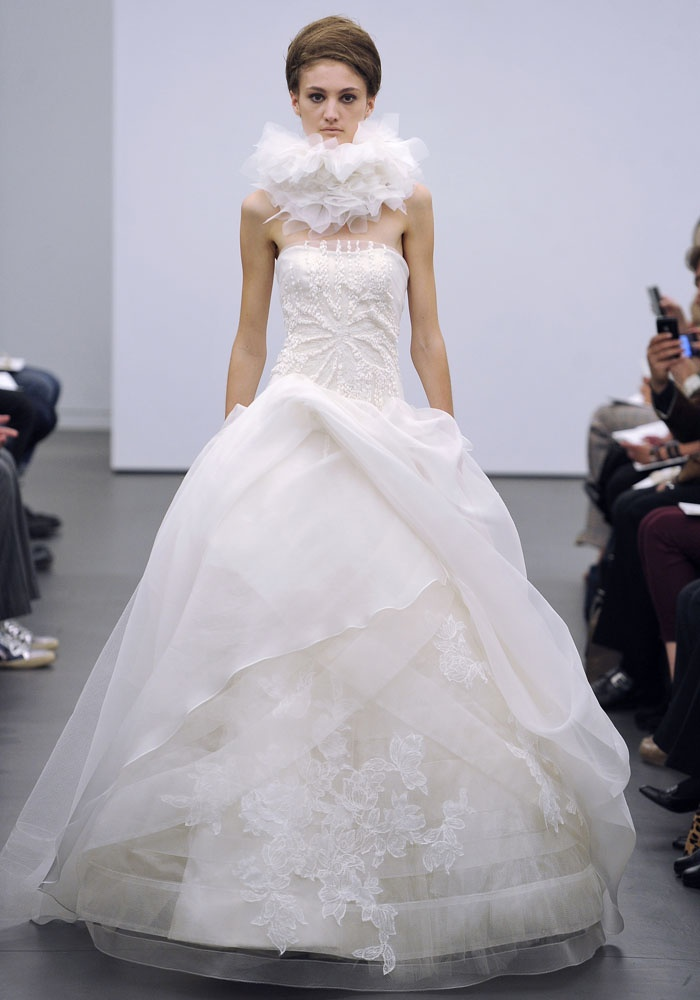 Vera Wang - except for the weird scarf thing, wow!