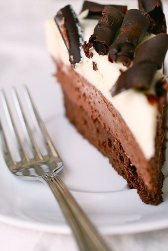 Triple Chocolate Mousse Cake - making this with my bestie, Allison, right now; from my quality control tests, this is going to be so good(: