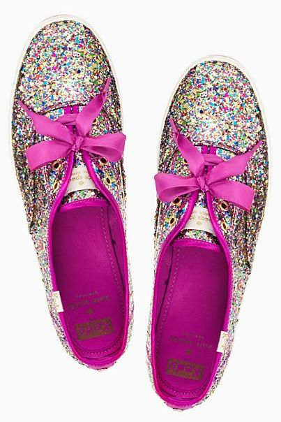 Keds for kate spade - glitter sneakers - take 25% off your order with code:  BEMERRY http://rstyle.me/n/tcmienyg6