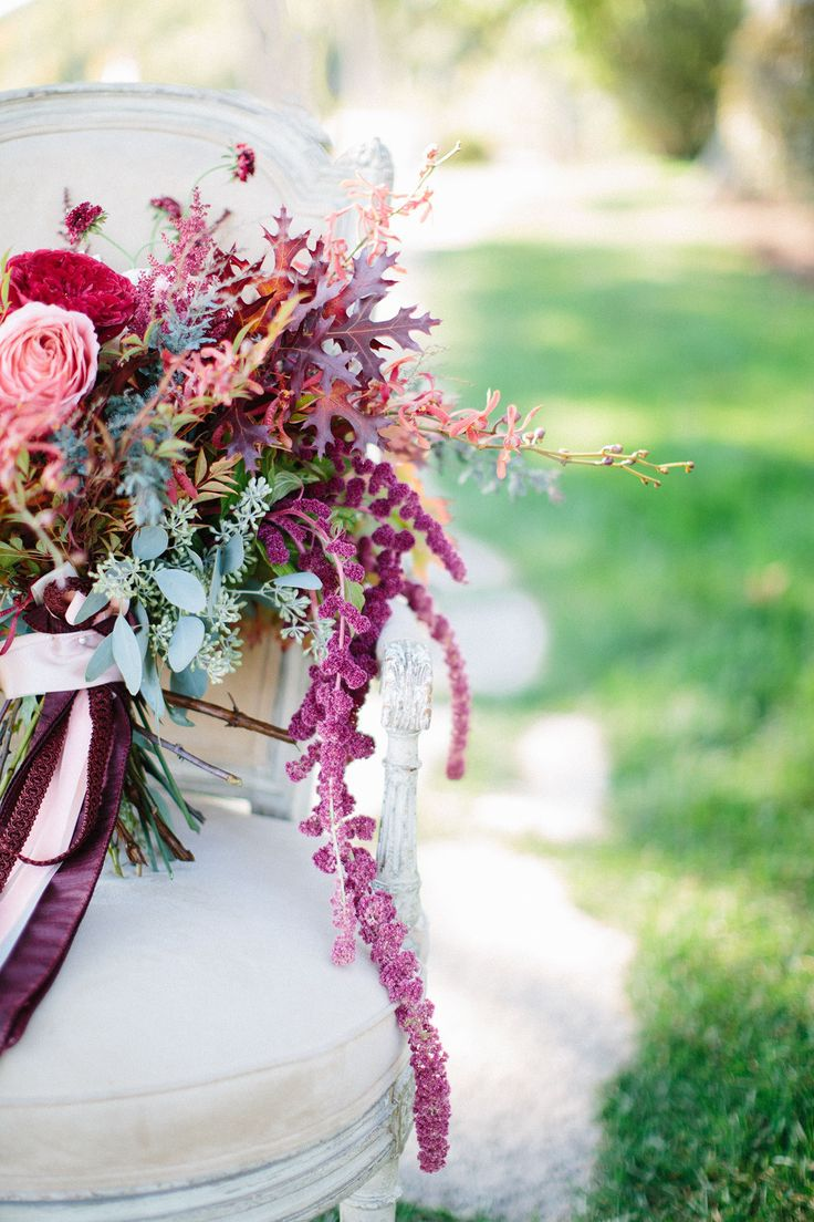 Autumn inspired wedding bouquet: Lakeside Wisconsin Fall Wedding