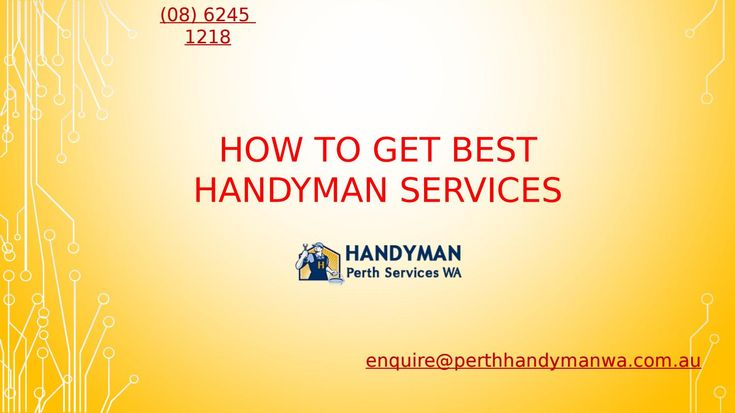 Get best handyman services