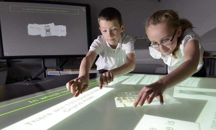 Future Touchscreen Classroom The multi-touch, multi-user smart desks have been trialled in a three-year project Studies have shown they can increase both fluency and flexibility in math.