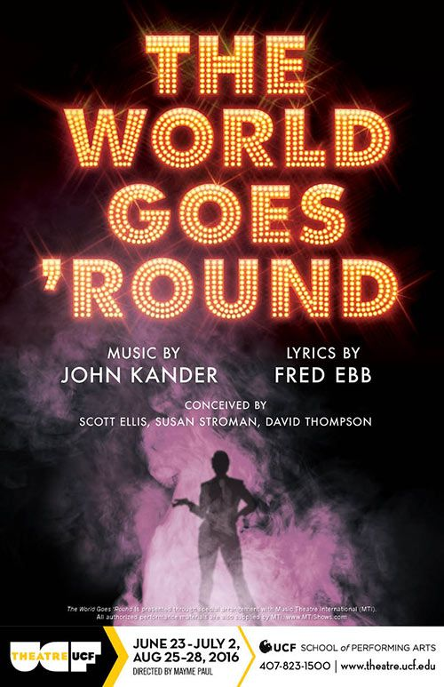 I created this poster for Theatre UCF's 2016 production of 'The World Goes 'Round.'