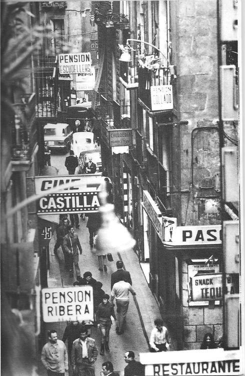Carrer Escudellers, Barcelona, 1950s