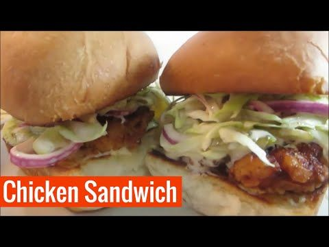 Filipino Chicken Sandwich Recipe (Manok Burger) - Pinoy Media Blog - YouTube