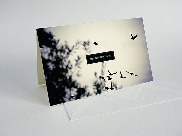 Trauer- / Danksagung- / Kondolenzkarte von nochwear auf DaWanda.com